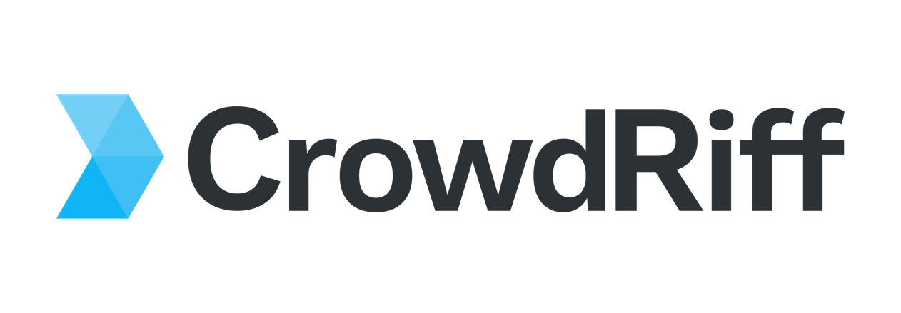 Blue CrowdRiff logo