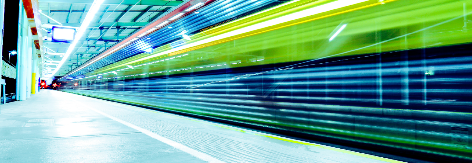 Photo of train station shot with long exposure