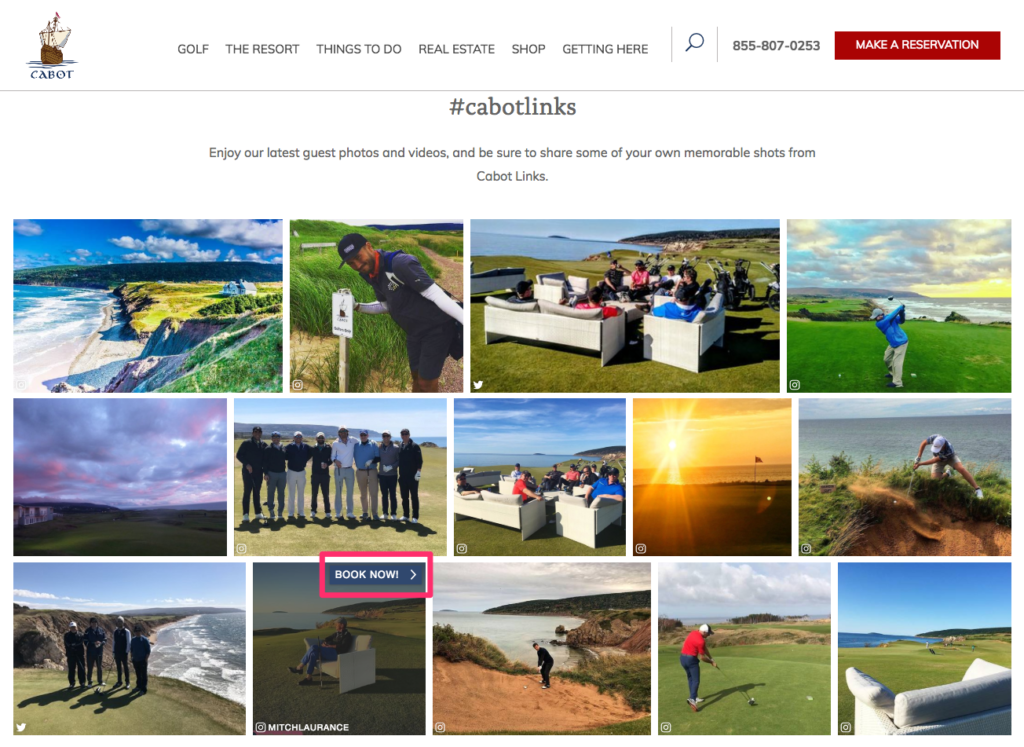 Cabot Links homepage