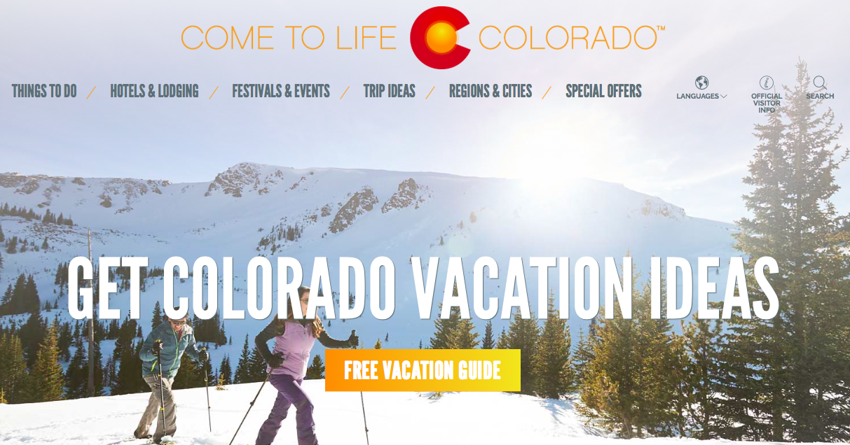 Colorado tourism marketing strategy visitor guide cta