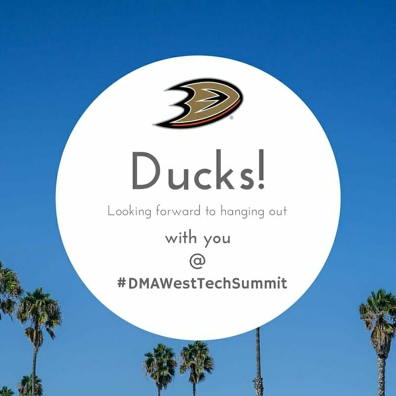 CrowdRiff DMAWest Tech Summit sponsorship & Anaheim Ducks