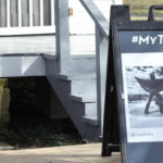 Tupelo A-Frame outside of shop with #MyTupelo