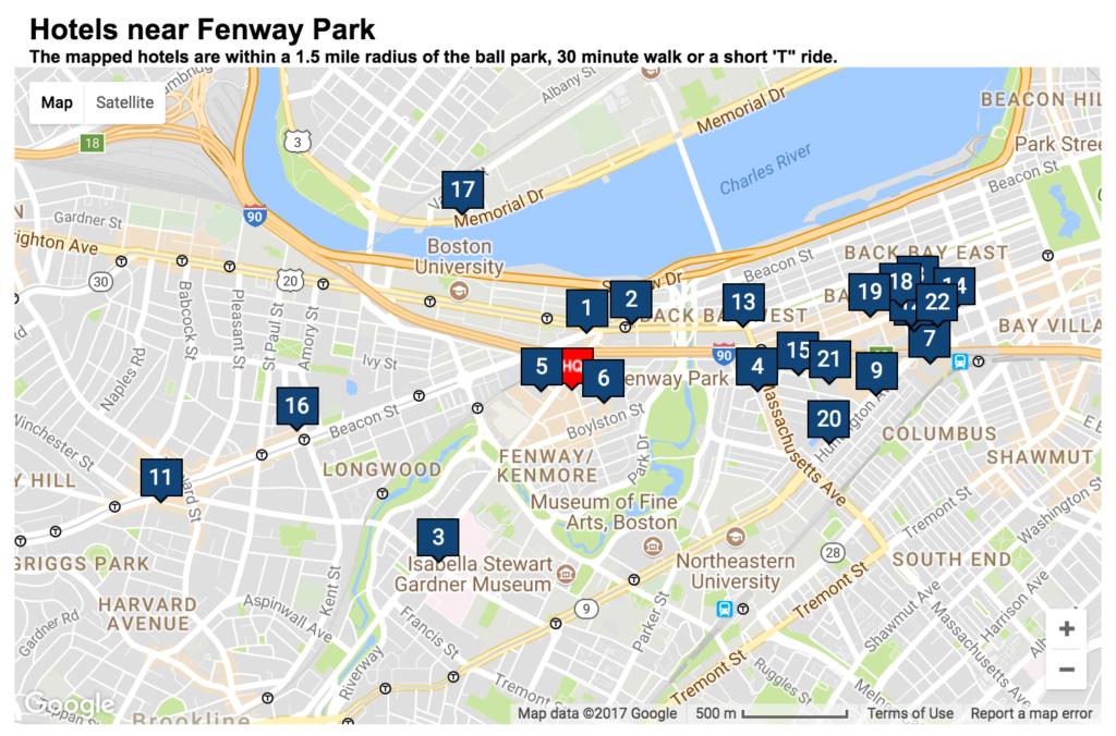 Hotels-near-Fenway boston sports tourism