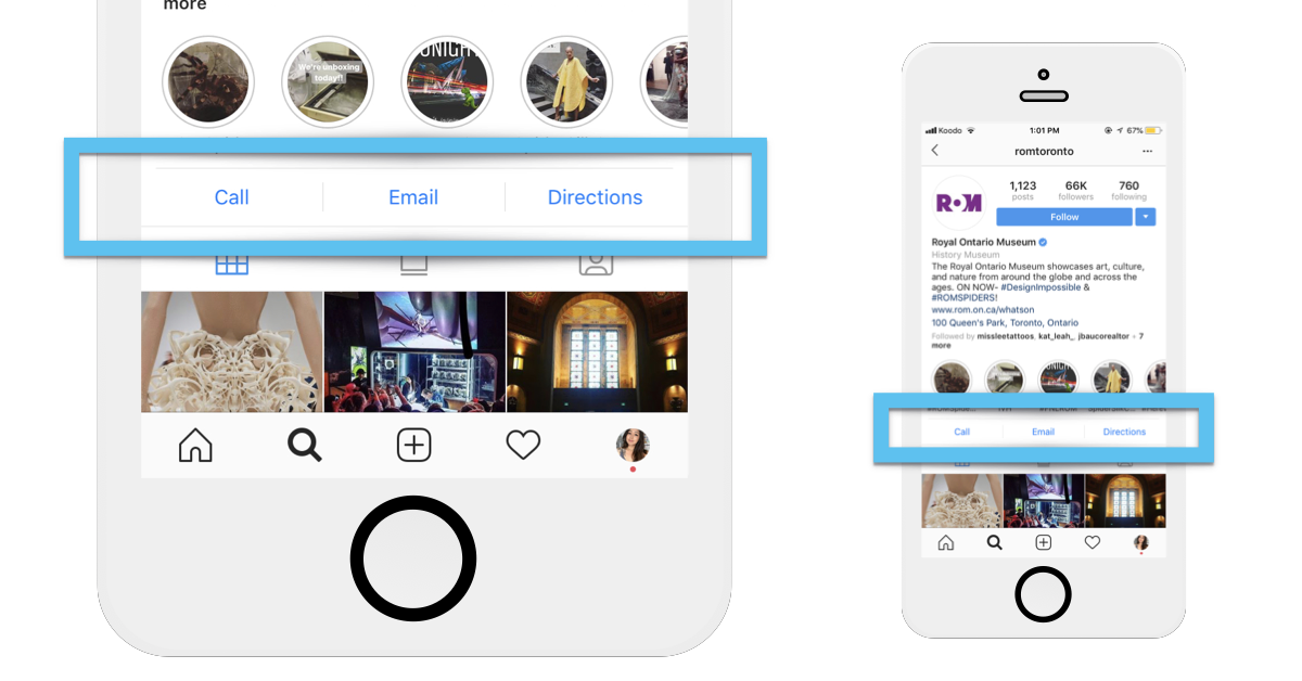Let people contact your destination through Instagram