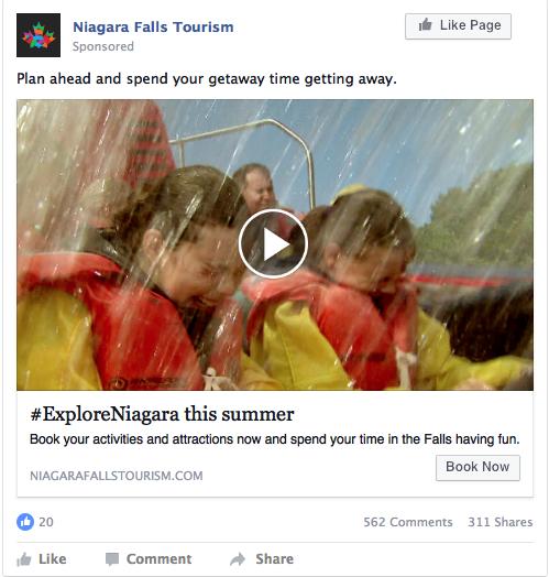 Niagara Falls Tourism facebook ad