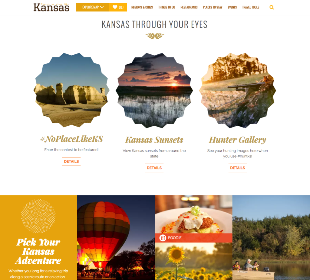 travel kansas website