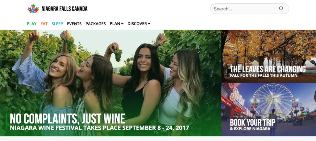 Niagara Falls Canada website