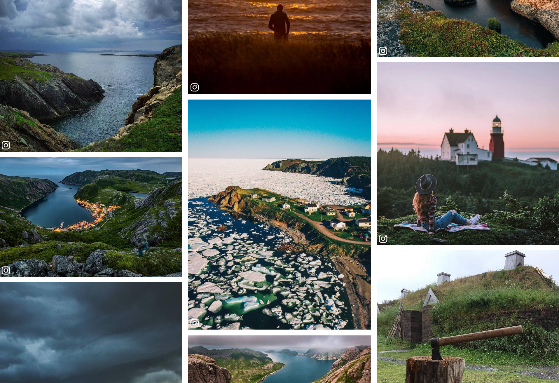 Scenic photos of Newfoundland in a gallery