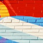 Colourful graffiti wall