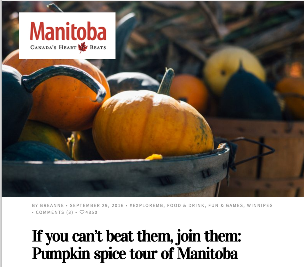 Travel manitoba pumpkin spice tour