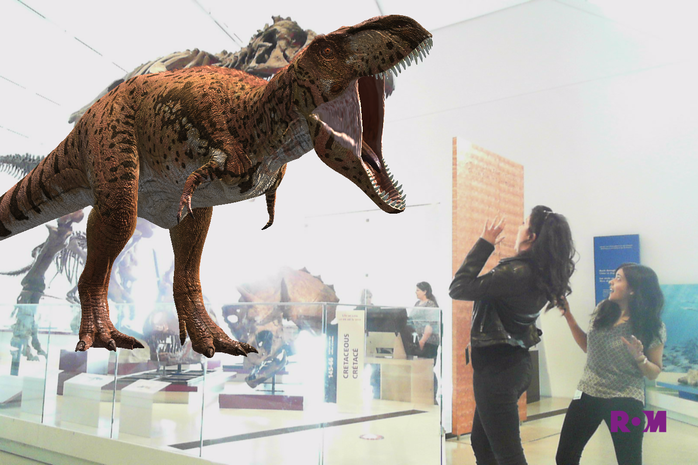 Trex at the ROM Augmented Reality