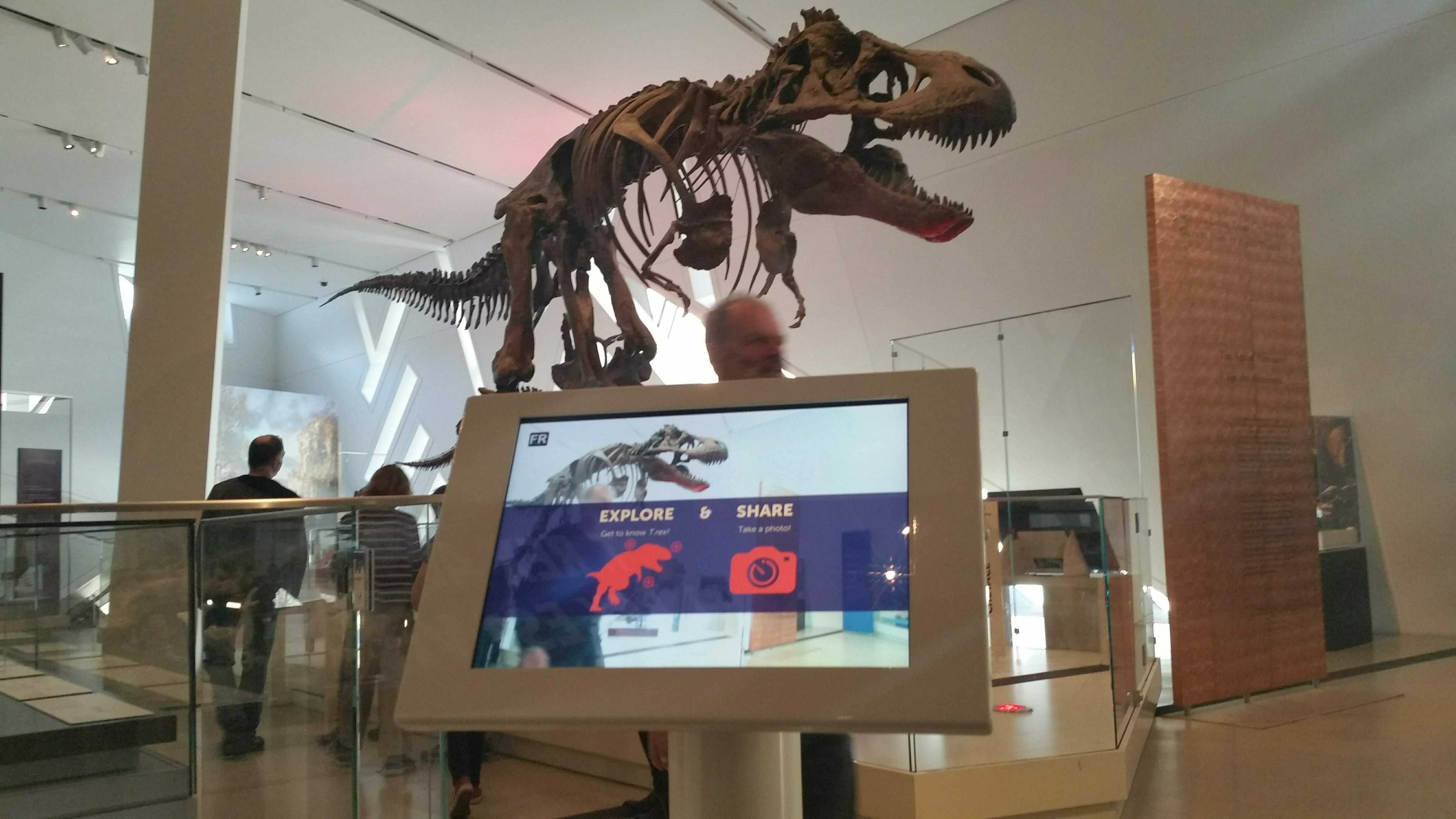Trex aumented reality at ROM