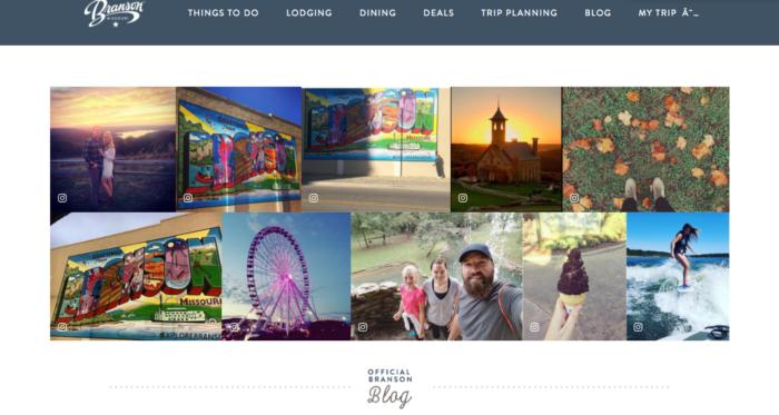 UGC Marketing personalization Explore Branson Outdoor Interests