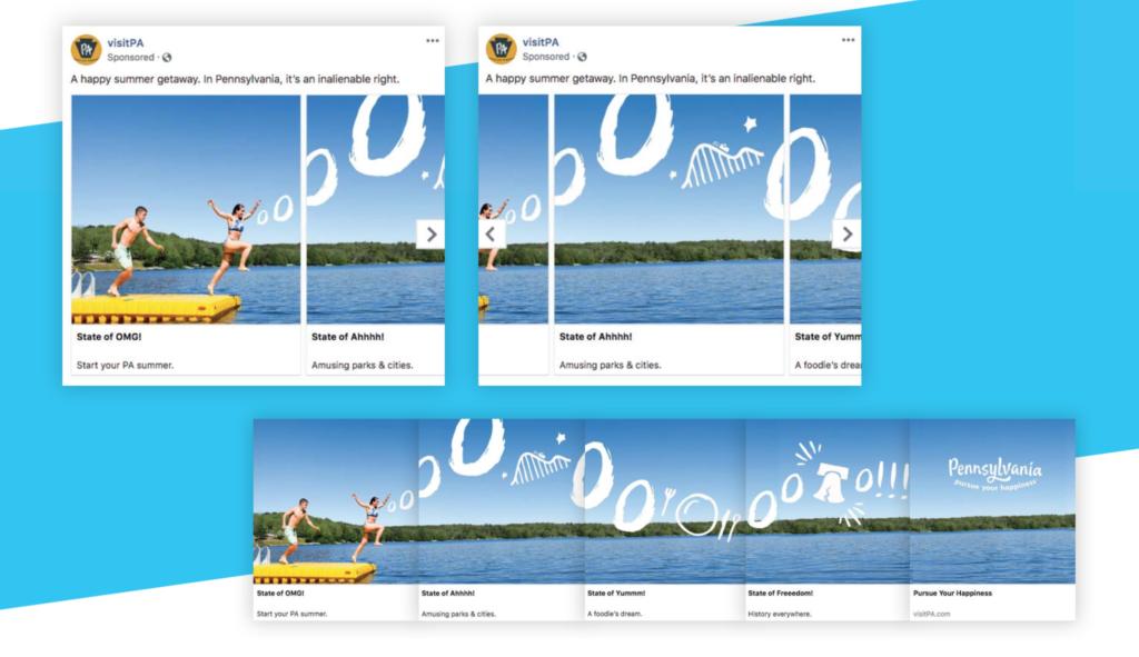 Visit PA facebook carousel ad