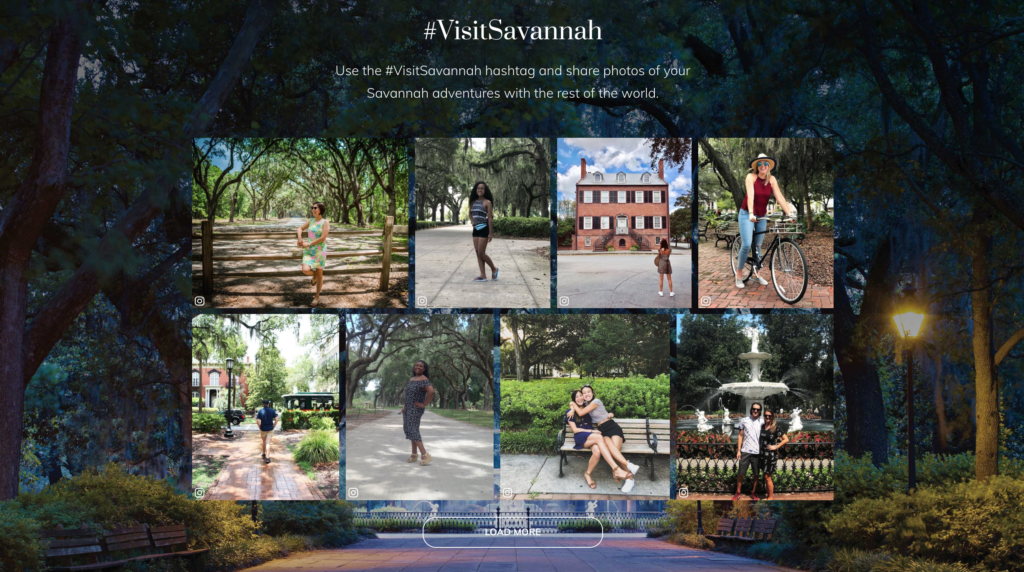 Visit Savannah homepage gallery