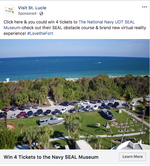 Visit St. Lucie Facebook ad