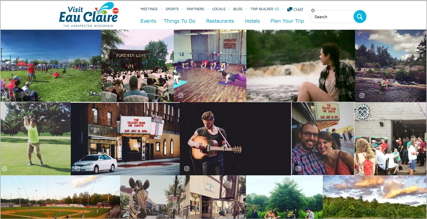 UGC Website visit eau claire