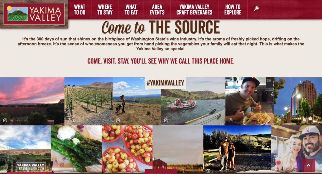 Yakima valley homepage
