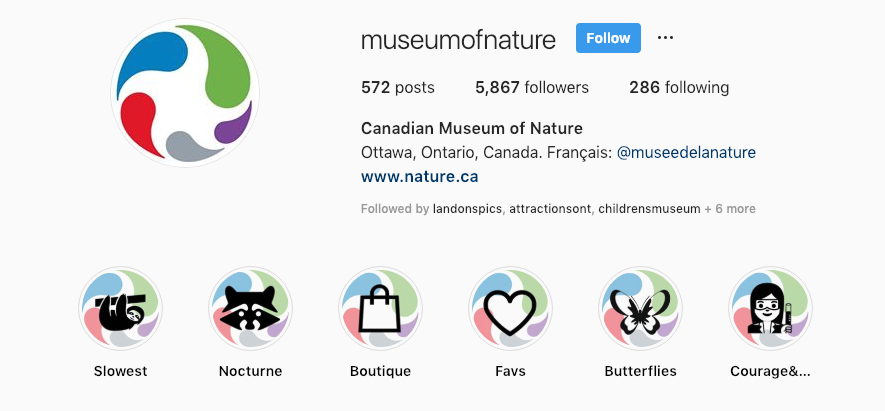 canadian musem of nature_instagram stories