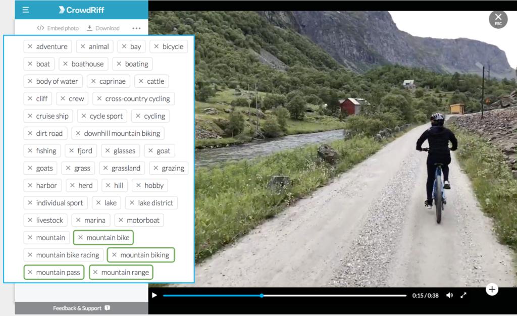 crowdriff video uploading autotagging