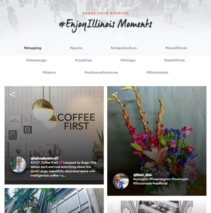 enjoy illinois website gallery crowdriff api