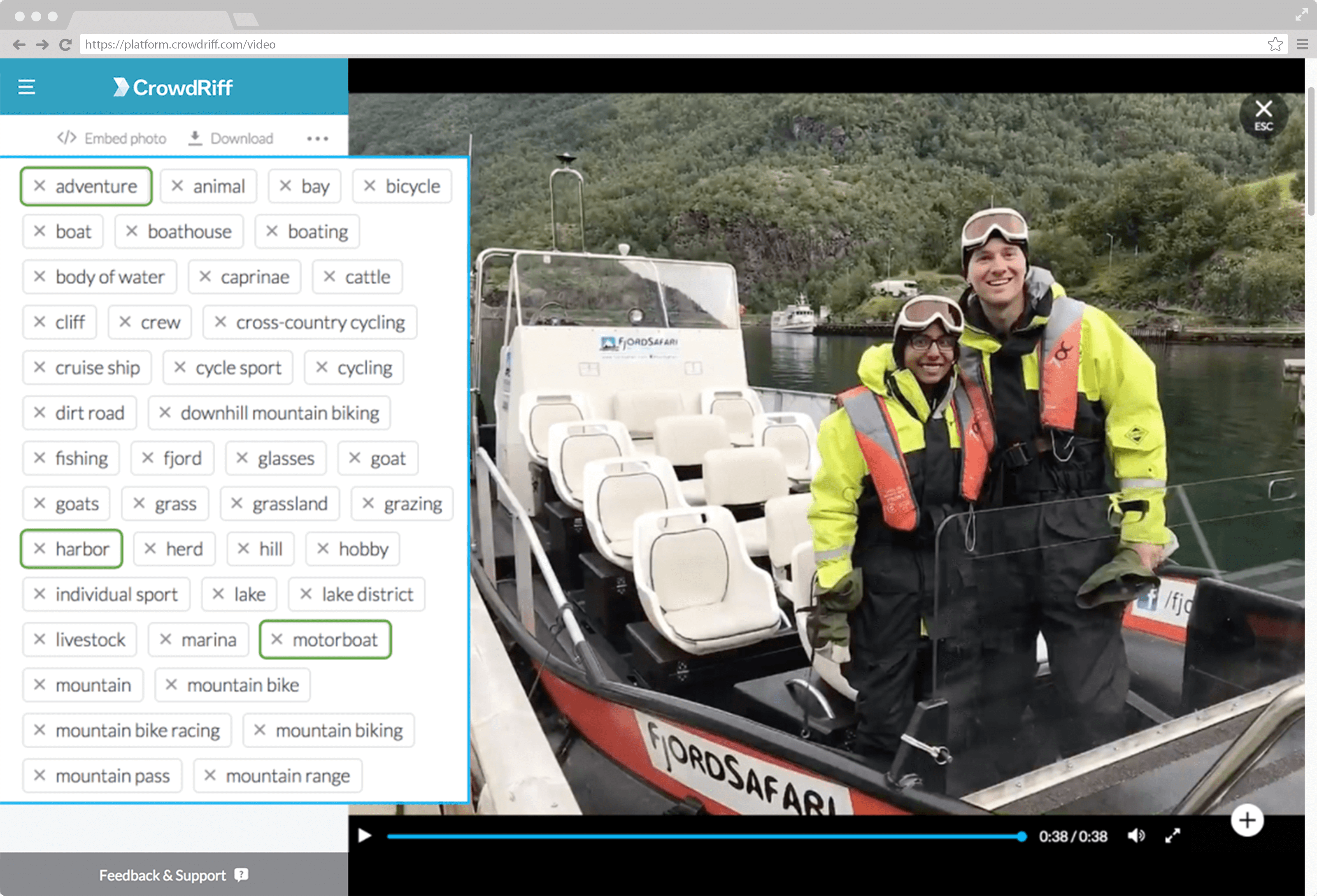 Image of people on a boat, uploaded to CrowdRiff with auto-tagging