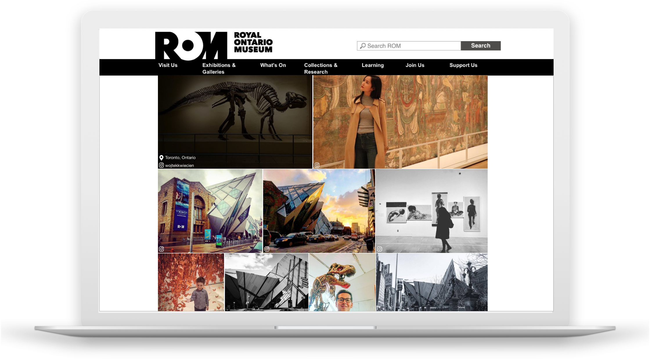 Screenshot of CrowdRiff gallery on ROM website