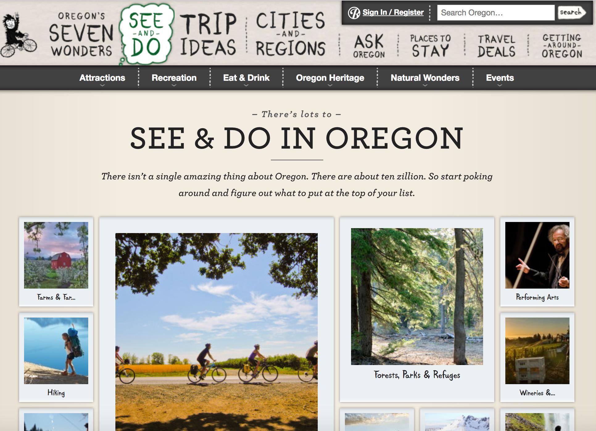 travel oregon old website