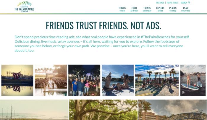 ugc marketing personalization Palm Beaches in Market