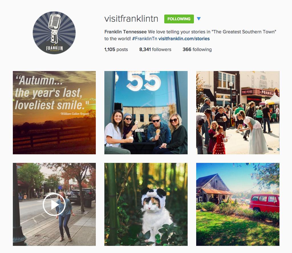 visit franklin instagram account