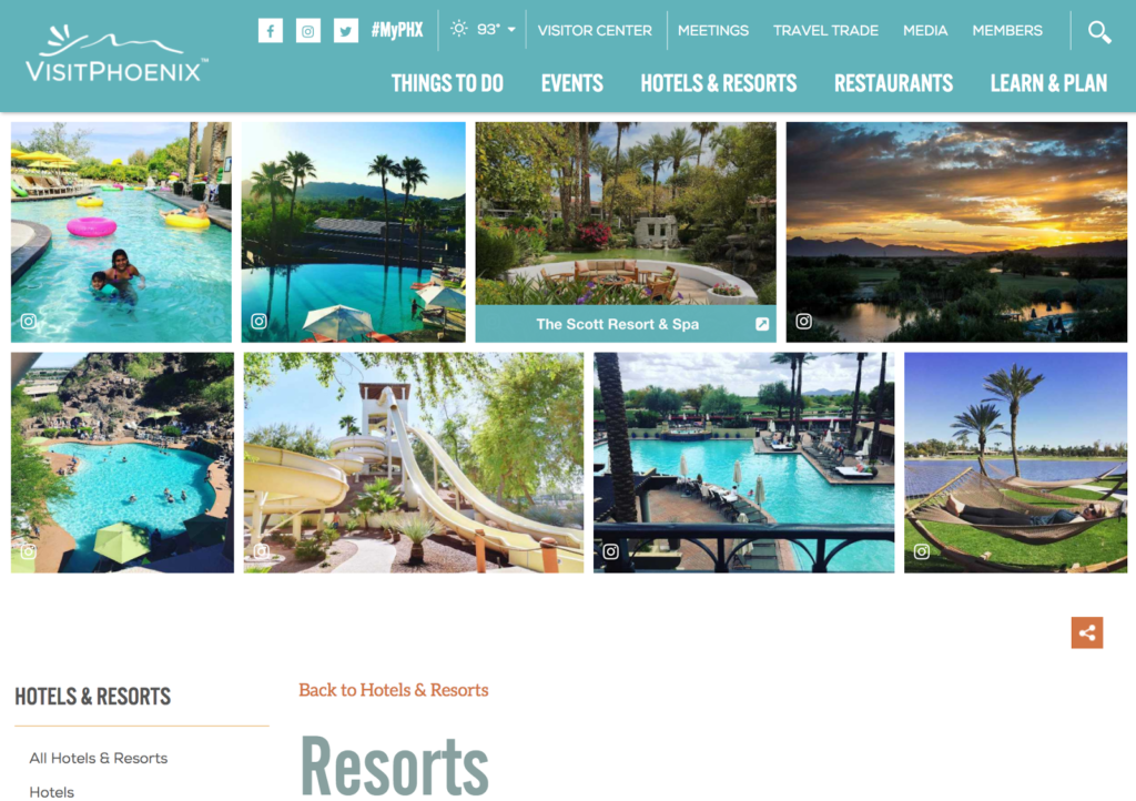 ugc website galleries visit phoenix current header resorts