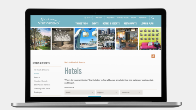 visit-phoenix-hotels-page ugc marketing laptop